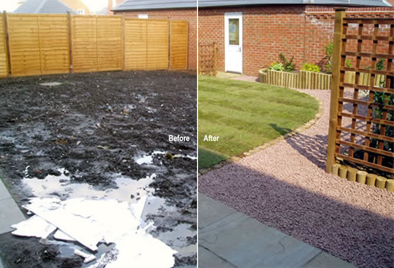 Garden makeover before and after uk home minimalist modern for Minimalism before and after